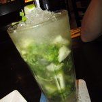 Green apple with peppermint mocktail