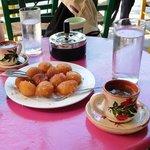 Loukoumades + coffee