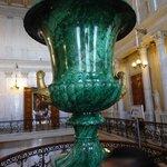A massive malachite  vase