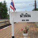 Hua hin railway station sign