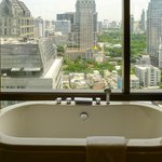 Bathtub with a view over Sathorn Road in our Club Room