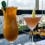 Our cocktails, Moon Bar and Vertigo Restaurant, Banyan Tree Bangkok 61st floor