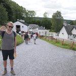 Edradour - distillery etc to the left, tasting room and bar to the right