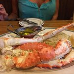 King Crab Legs and Mashed Potatoes