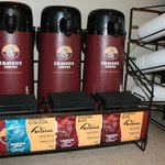 Free Craven's Premium Coffee 24/7 in the lobby.