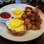 Delicious eggs benedict for breakfast