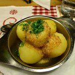 boiled potatoes as a side dish