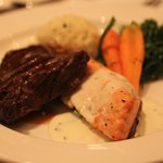 We enjoyed seared salmon and grilled sirloin...prepared to perfection!