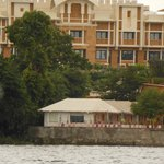 View of my hut from lake Pichola while boating