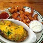 Shrimp and twice-baked potato