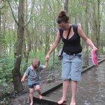 Fun in the barefoot walk
