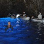 Swimming in the grotto
