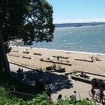A Praia dentro do parque....