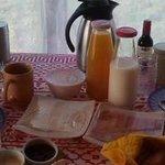 Desayunos a la cabaña cada mañana.
