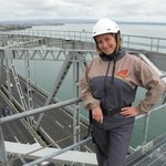 This is me atop Auckland Harbour Bridge as the cars whiz by beneath me
