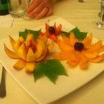 My peach flower dessert