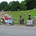 Велорикши ждут отдыхающих