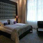 Blick ins Doppelzimmer, äußerst bequeme Betten