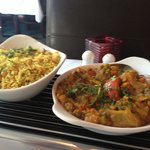 Chick pea rice and Veg bhuna for under a tenner !