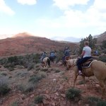 Horseback riding at the lodge
