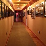 Another shot of gold record studded upstairs hallway