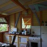 Offene Küche auf der Terrasse