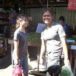Khun Poo and assistant at Klong Toey market