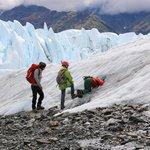 Exploring a mini ice cave