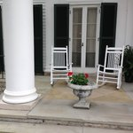 guests enjoyed hanging out on the front porch