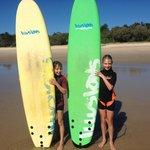 First time surfers!