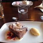 Delicious bread & butter pudding and cheesecake