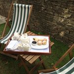 Afternoon Cream tea - served in The Apple Cottage