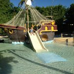 pirate ship at kids area