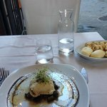 Sea Bass stuffed with fresh mozzarella