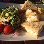 Prawn and mayo sarnie ... Mmm