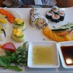 Restaurante japonés. Sushi vegetariano