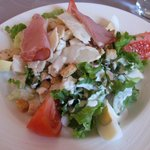 Delicious salad served with Hotel's prix fixe dinner