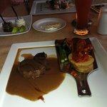 Italian, Beef tenderloin, cut it with a fork.