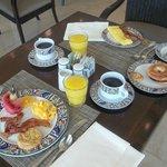 Breakfast at the Alamo, wonderful