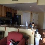 Kitchen area with dishwasher