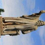 Statue of John Knox in graveyard