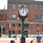 Clock in the middle of the Distillery District