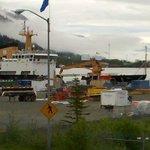 Coast Guard dock across Egan Drive