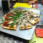Pizza mediana, increíble.