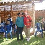 Con la maestra tejedora Nilda Callañaupa, Direc. centro textiles Tradicionales del Cusco
