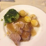 Roast dinner in the restaurant