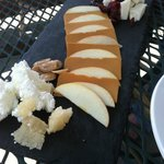 Just one of the delicious cheese plates.
