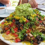 Muy Grande is the only word I can say for these.  Dinner for two hungry people or an appetizer f