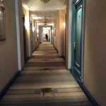 Hallway, with Peter the Great's sailing ship in the carpet