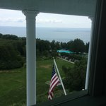 The room looked out over the Straits of Mackinac.